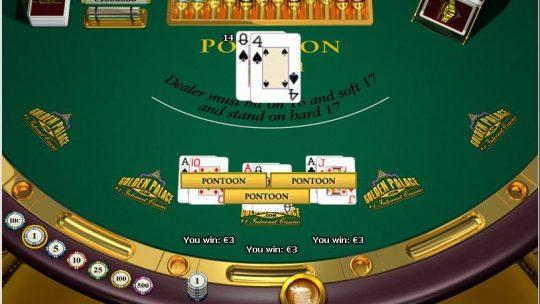 Online Pontoon, Slightly Different Version of Blackjack